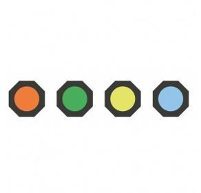 Zestaw filtrów do latarek B, H, L, M, P i T