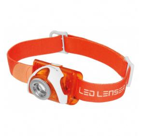 Latarka czołowa Ledlenser SEO3 Orange Blister