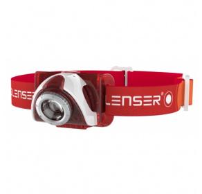 Latarka czołowa Ledlenser SEO5 Red Blister