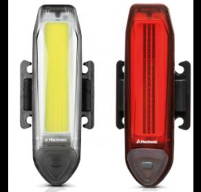 Zestaw lamp rowerowych Mactronic White + Red (akumulatorowe)