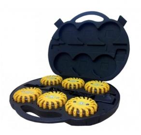 6 x Dysk sygnalizacyjny Mactronic yellow + walizka