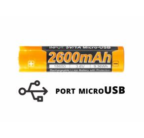 Akumulator Fenix USB ARB-L18U (18650 2600 mAh 3,6 V)