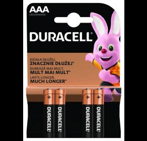 Bateria alkaliczna Duracell Basic Duralock AAA / LR03 C&B x4